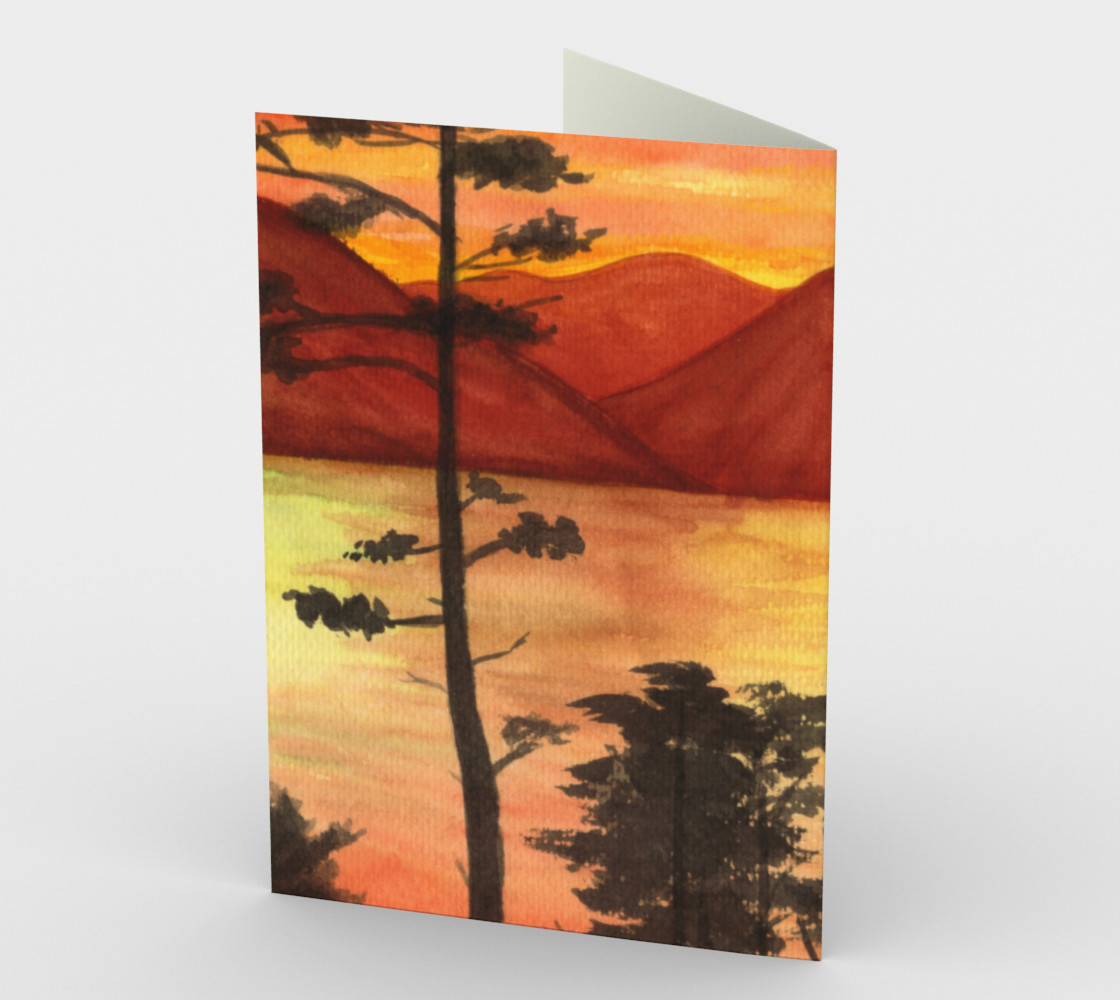 Sunset Stationery Card preview #2