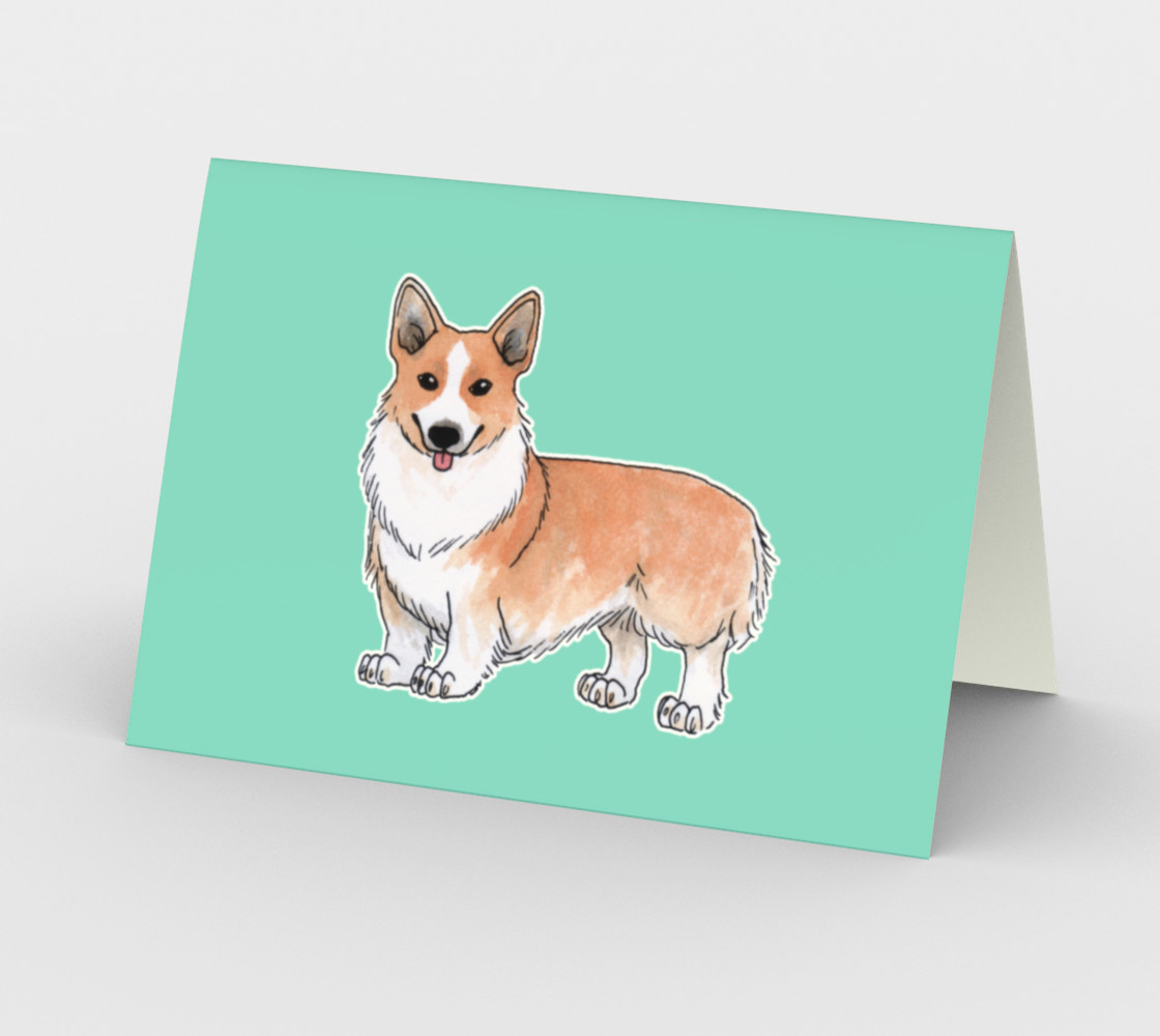 Welsh corgi dog Stationery Card preview #2