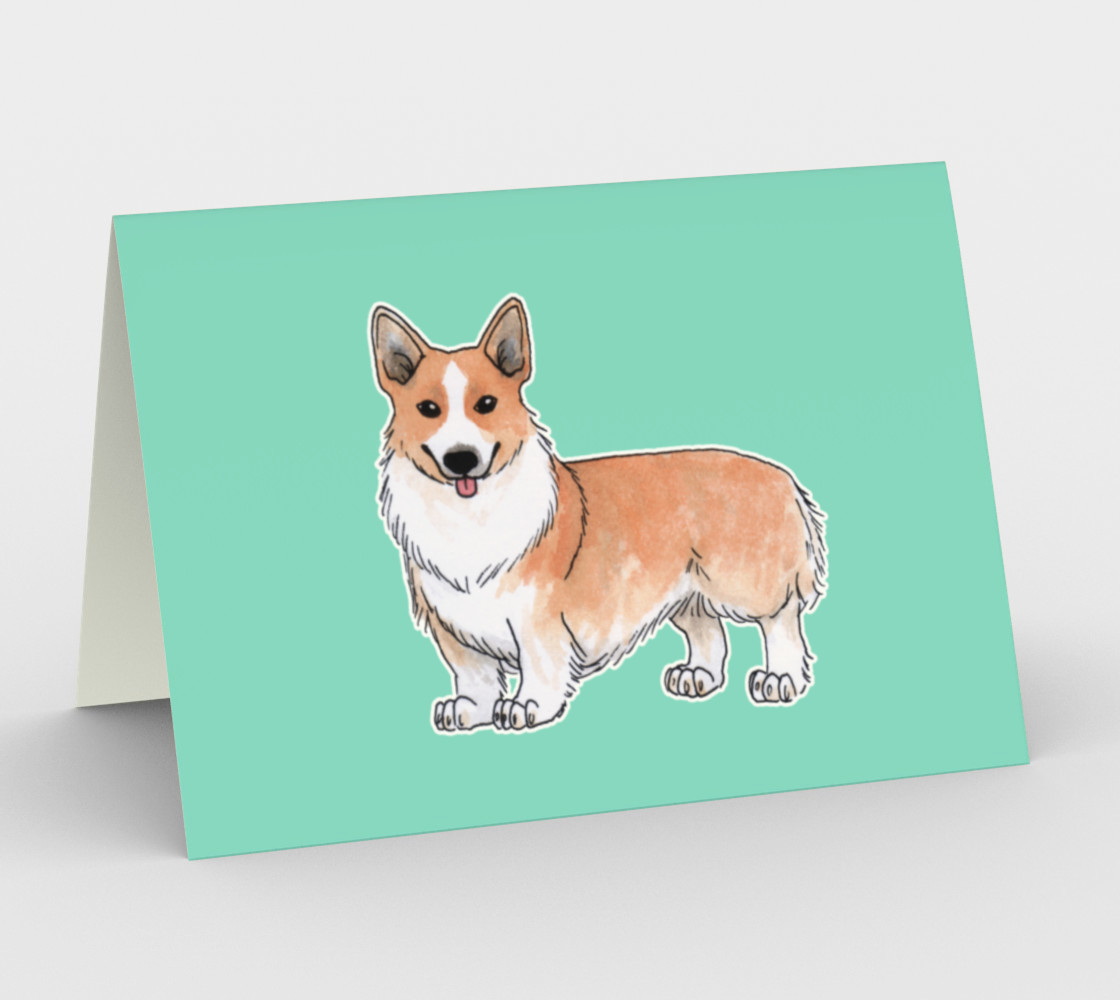 Welsh corgi dog Stationery Card preview #1