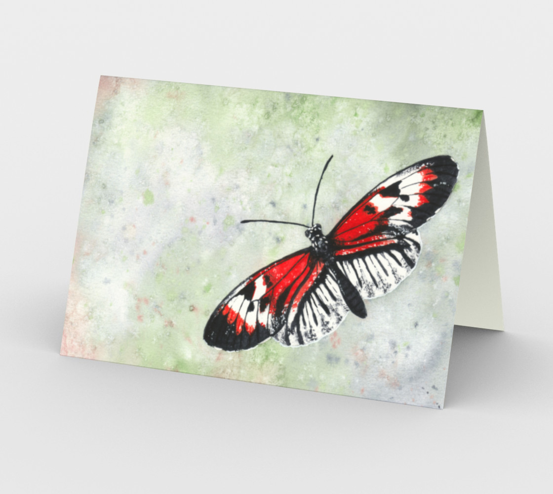 Piano key butterfly Stationery Card preview #2