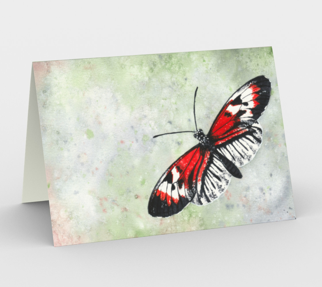 Piano key butterfly Stationery Card preview #1
