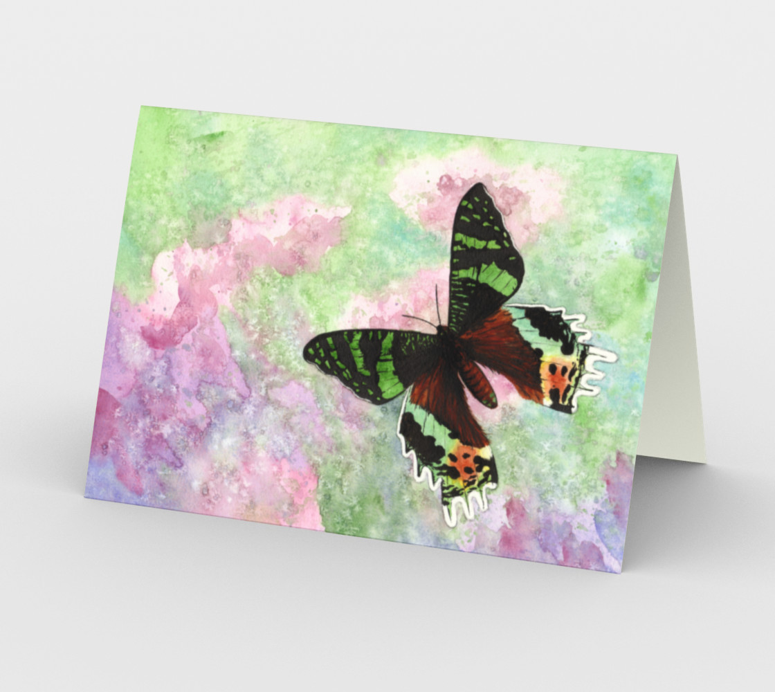 Urania Ripheus butterfly Stationery Card preview #2