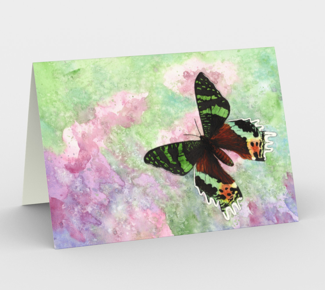 Urania Ripheus butterfly Stationery Card preview #1