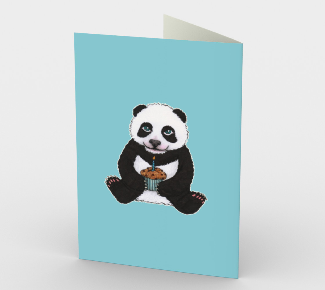 Baby panda's birthday Stationery Card preview #2