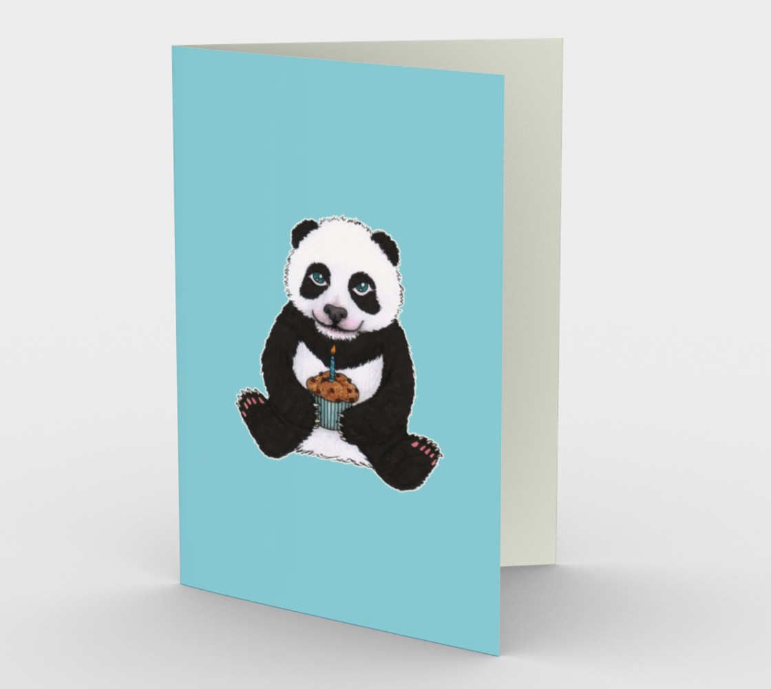 Baby panda's birthday Stationery Card preview #1