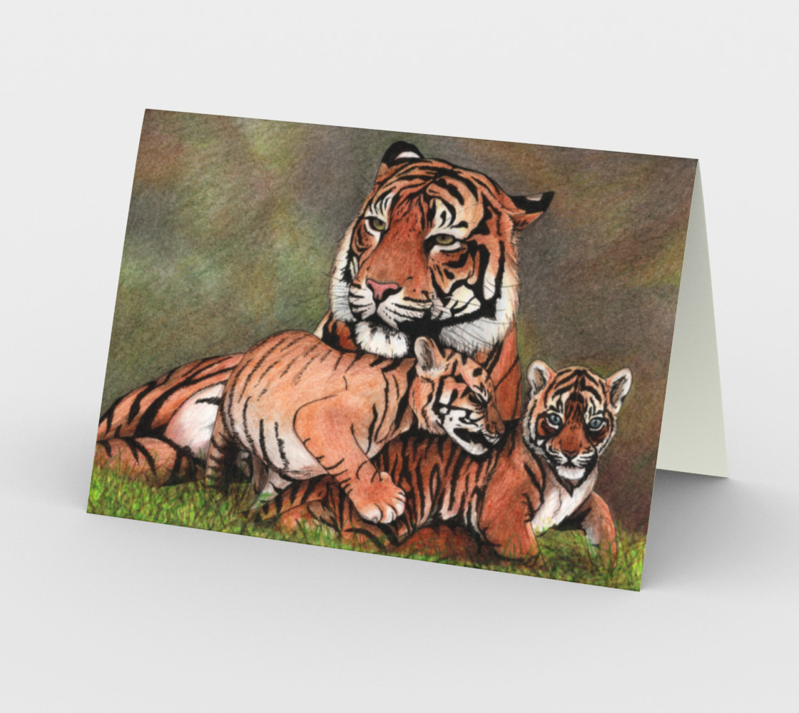 Family tigers Stationery Card preview #2
