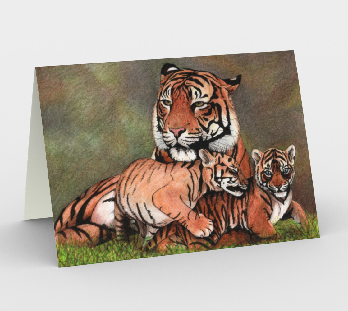 Family tigers Stationery Card preview #1