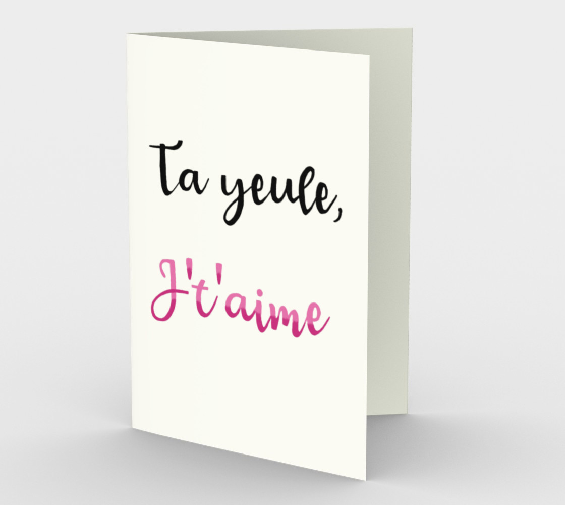 Ta yeule, j't'aime preview #1