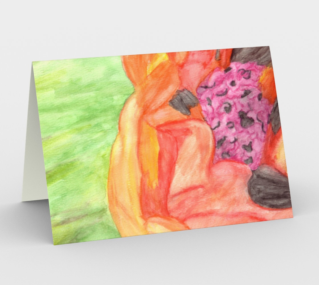 Giant Orange Poppy Card preview #1