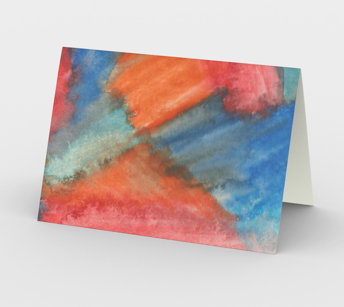 Stained Glass Brush Strokes Card preview #2