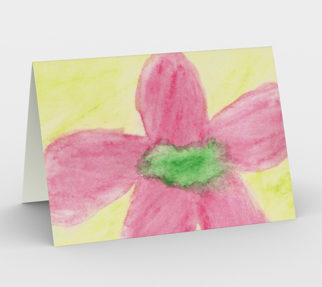 Pink Flower Blossom Card preview #1