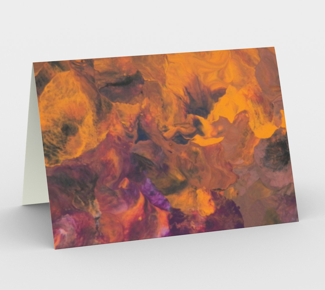 Sunset Flowers Card preview #1
