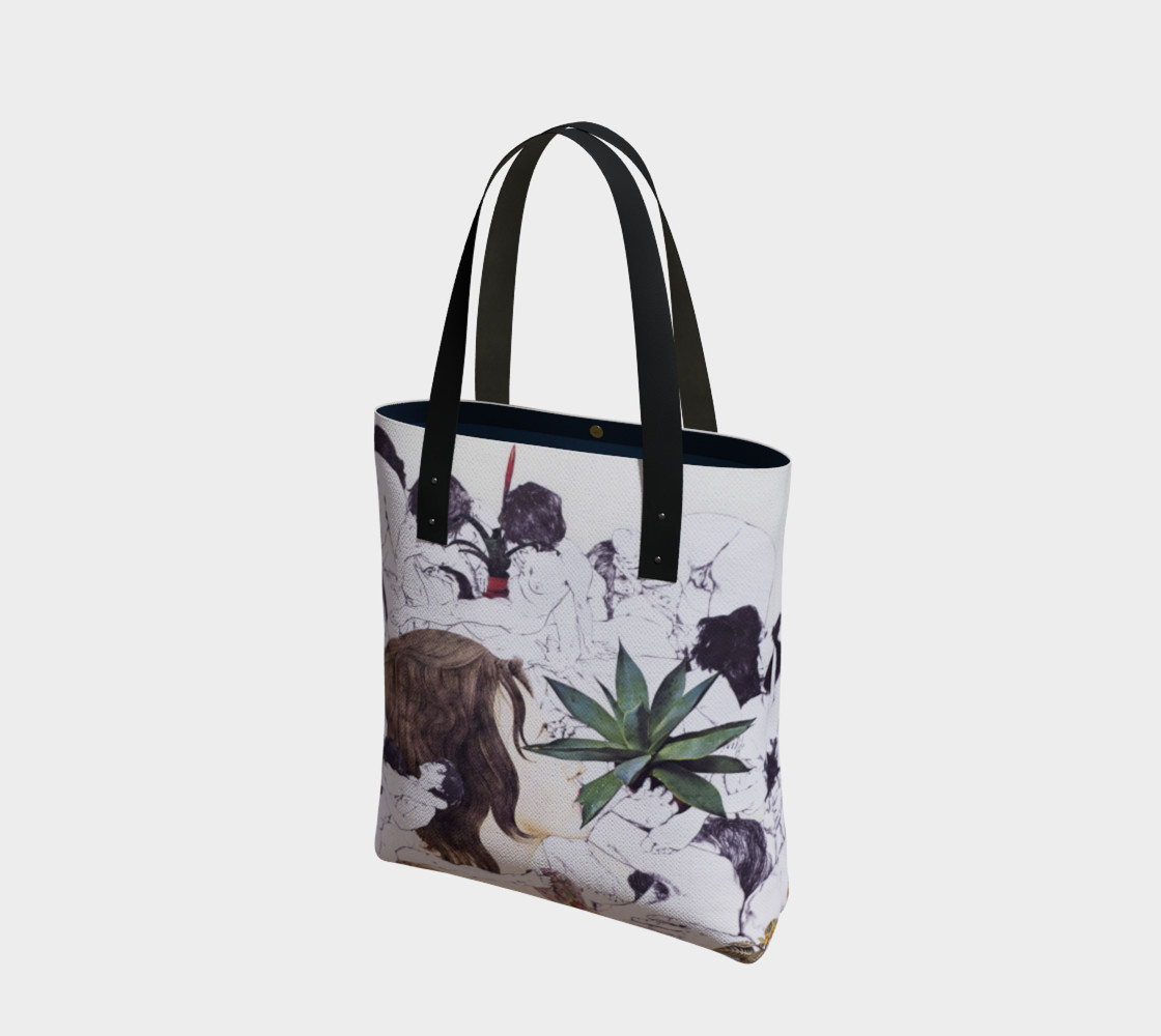 The Joy of Sex and Indoor Gardening Canvas Tote thumbnail #2