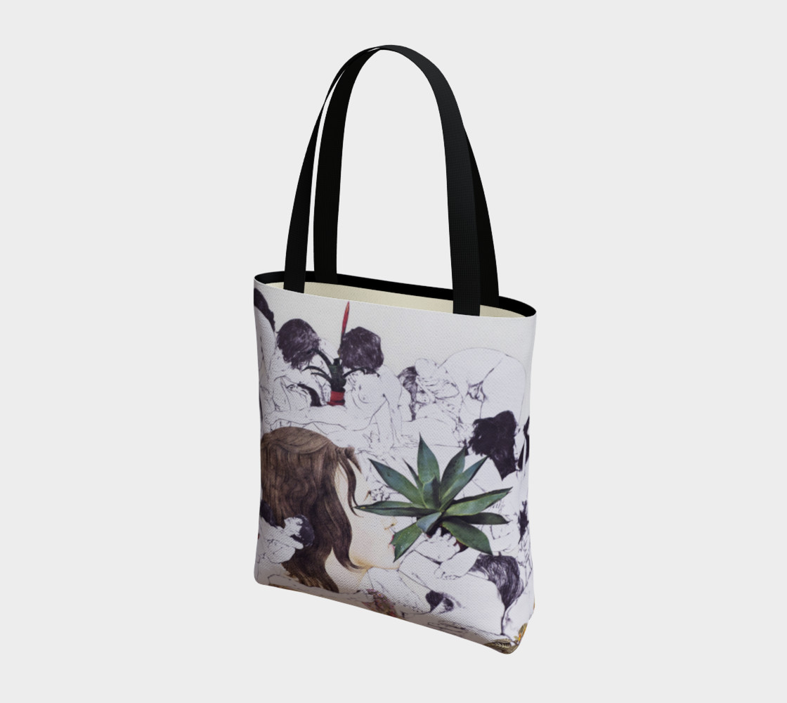 The Joy of Sex and Indoor Gardening Canvas Tote preview #3