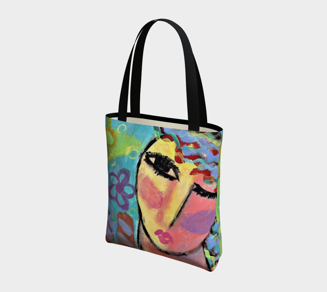 Original Abstract Art Tote Bag preview #3