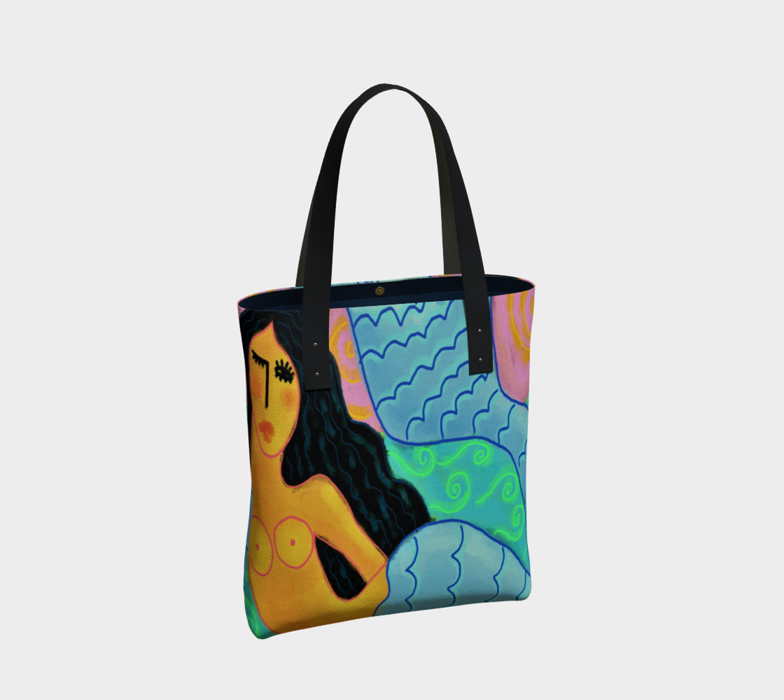 Aperçu de Colorful Abstract Mermaid Shoulder Bag #2