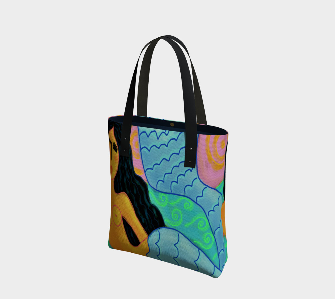 Aperçu de Colorful Abstract Mermaid Shoulder Bag #1
