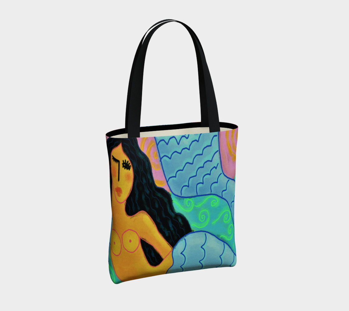 Aperçu de Colorful Abstract Mermaid Shoulder Bag #4