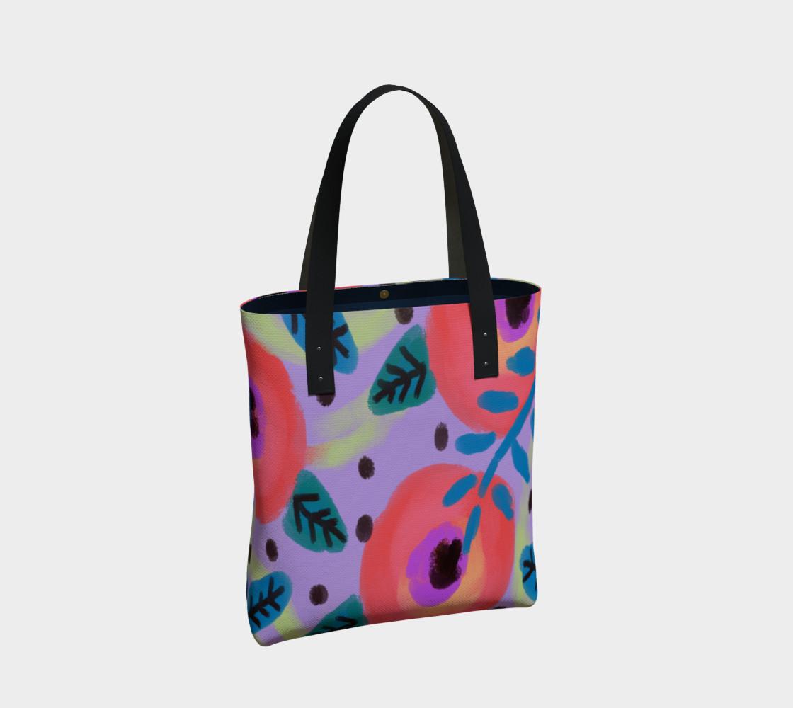 Aperçu de Wild Flowerz Abstract Art Shoulder Bag #2