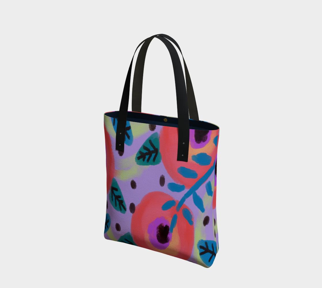 Aperçu de Wild Flowerz Abstract Art Shoulder Bag #1