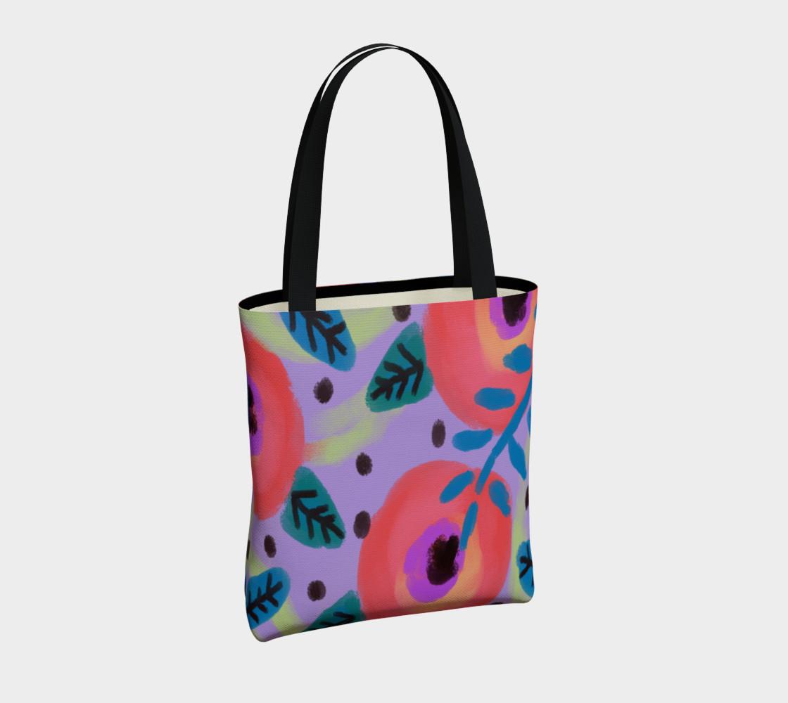 Aperçu de Wild Flowerz Abstract Art Shoulder Bag #4