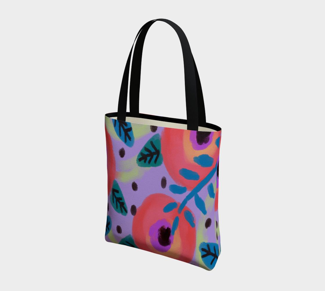 Aperçu de Wild Flowerz Abstract Art Shoulder Bag #3