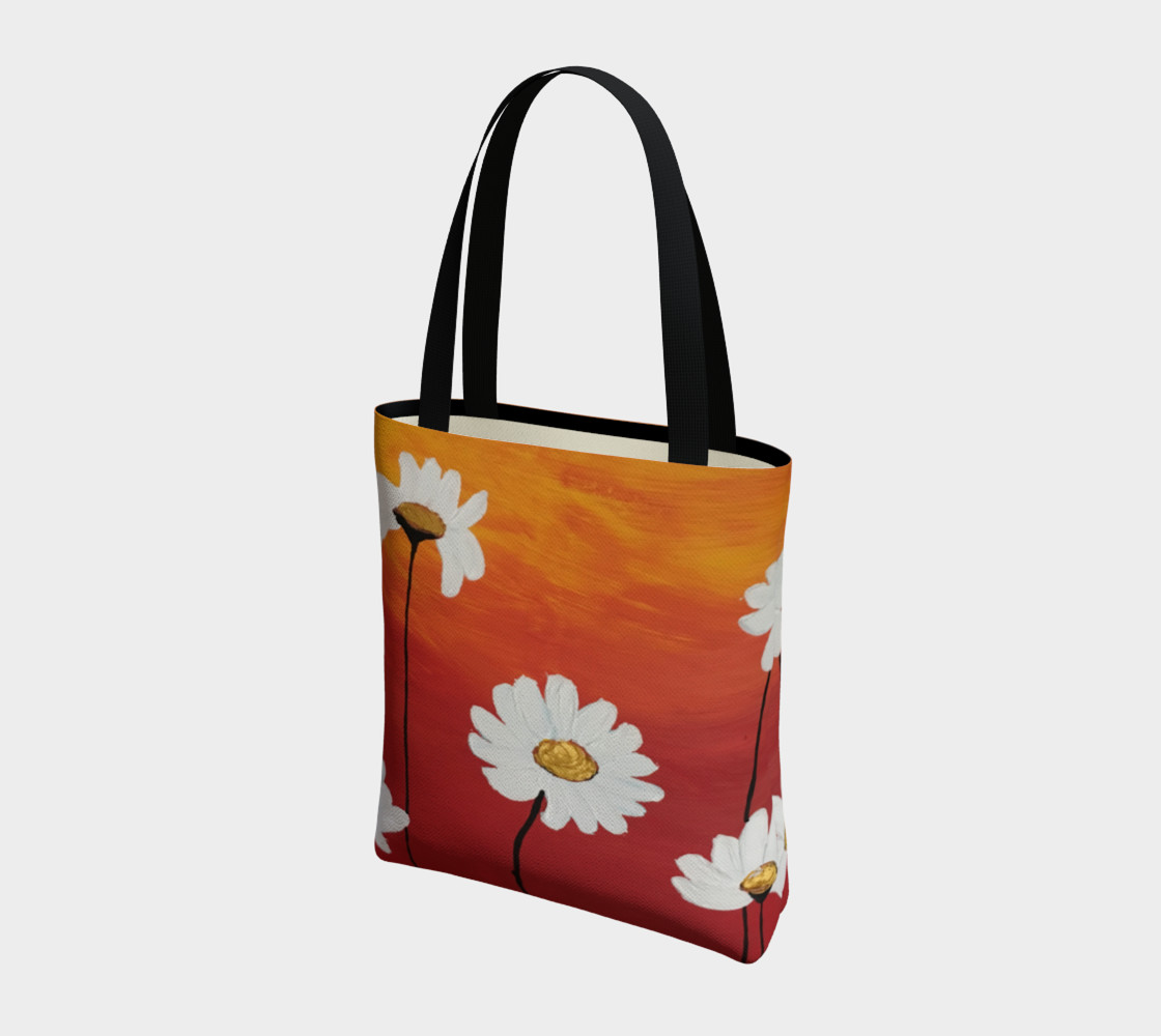 Daisy Sunset Tote Bag preview #3