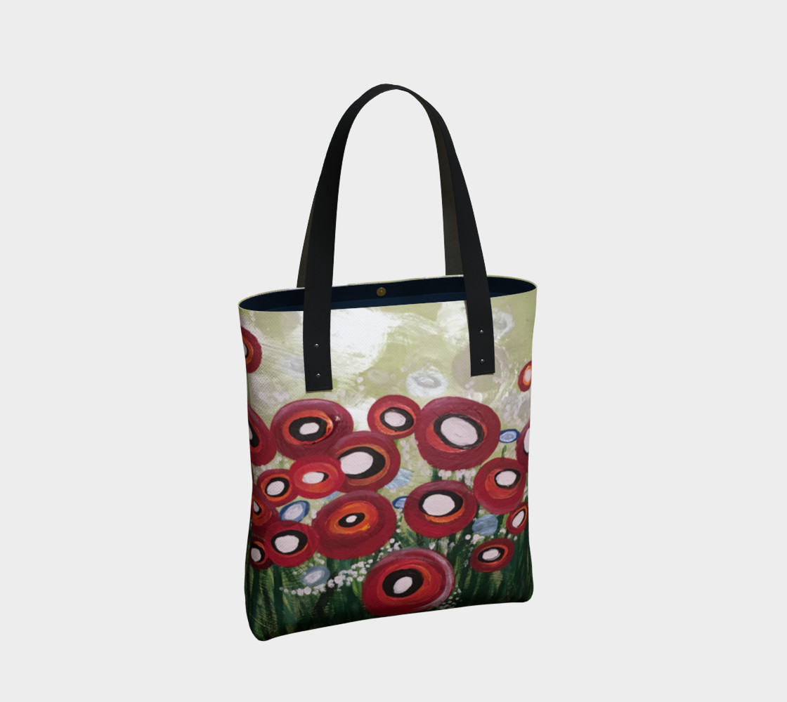 Whimsical Poppy Tote Bag preview #2