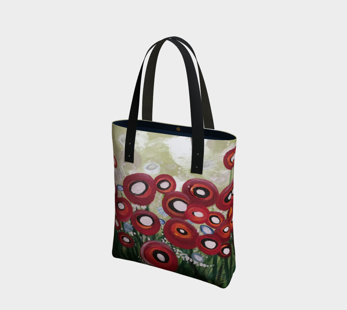 Whimsical Poppy Tote Bag preview #1