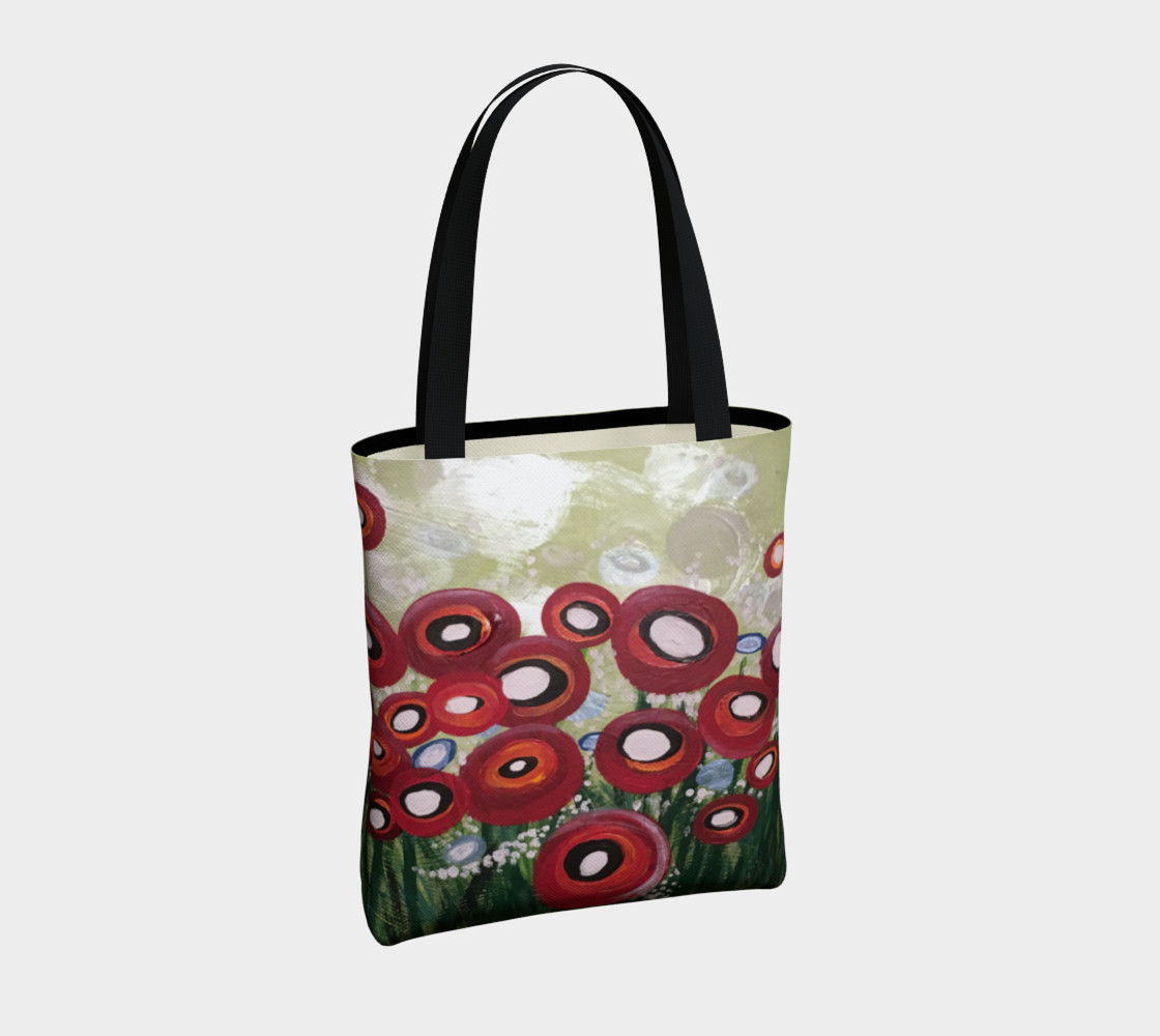 Whimsical Poppy Tote Bag preview #4