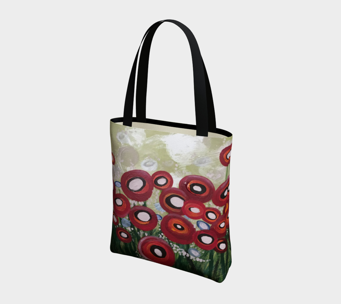 Whimsical Poppy Tote Bag preview #3