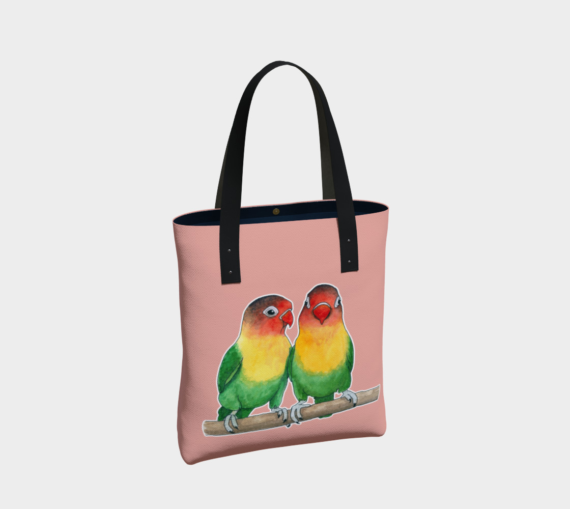 Fischer's lovebirds Tote Bag preview #2