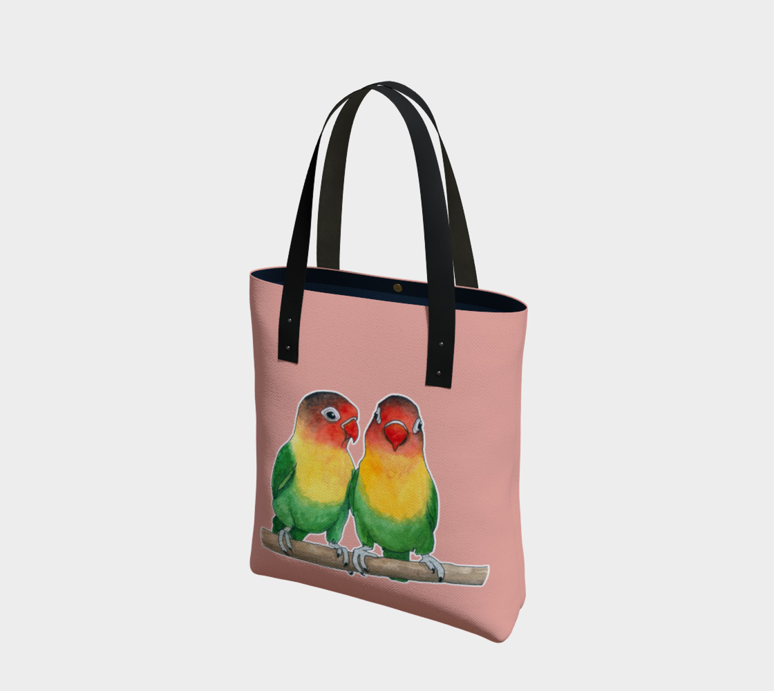 Fischer's lovebirds Tote Bag preview #1