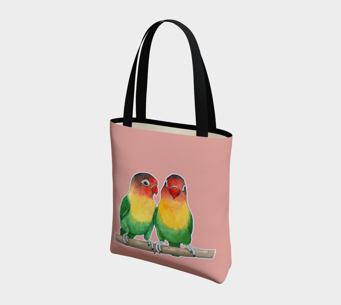 Fischer's lovebirds Tote Bag preview #3
