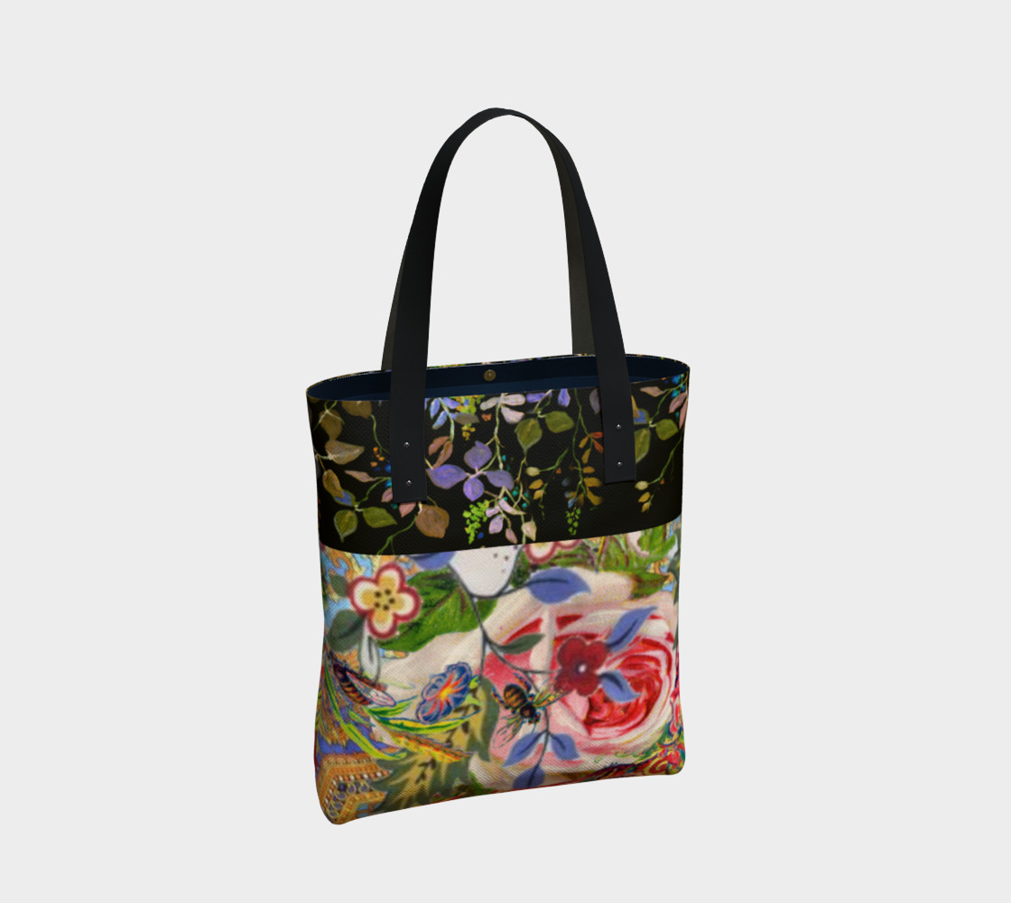 Bohemian Day Garden Canvas Tote preview #2