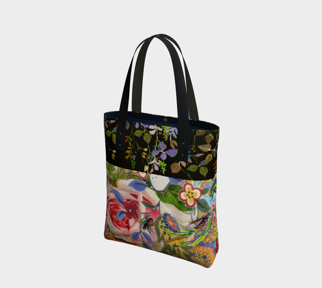 Bohemian Day Garden Canvas Tote preview #1