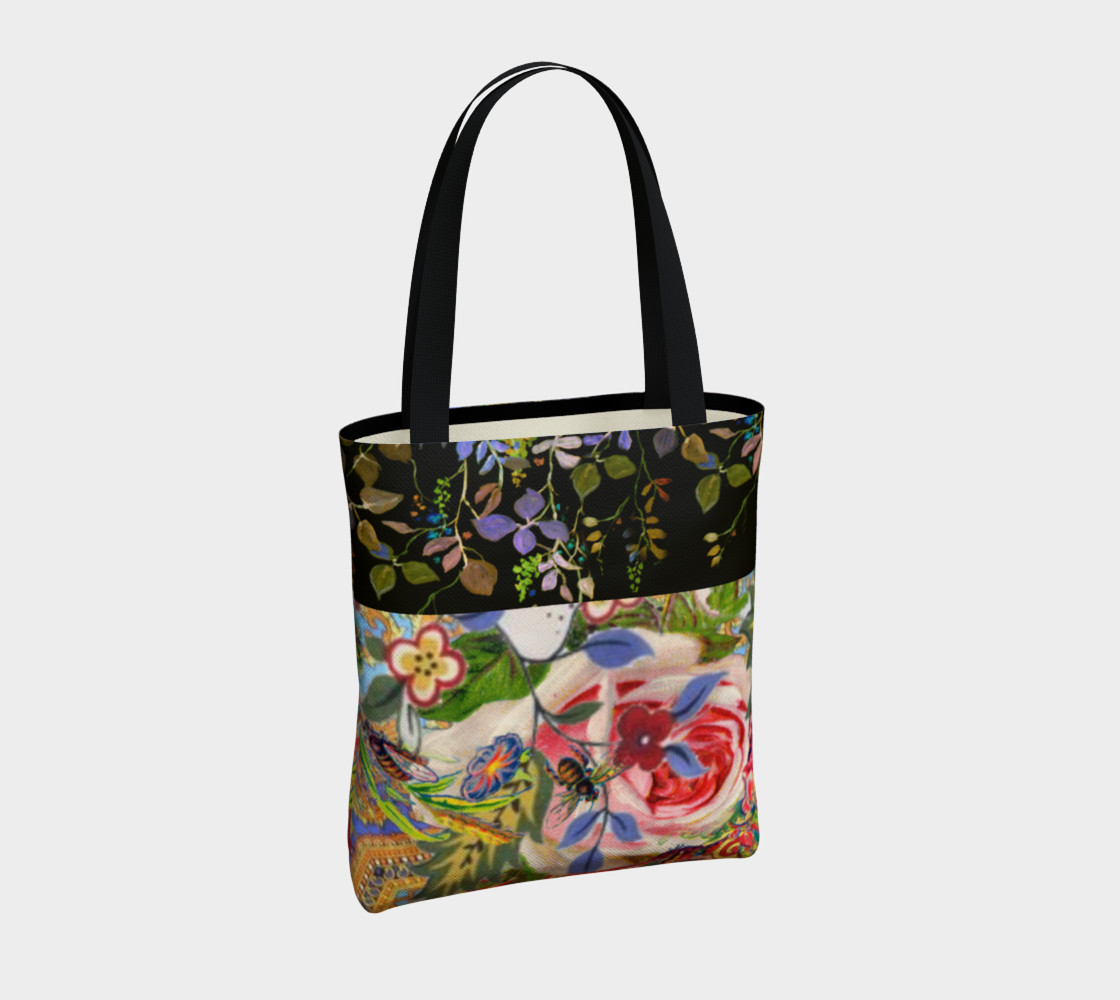 Bohemian Day Garden Canvas Tote preview #4