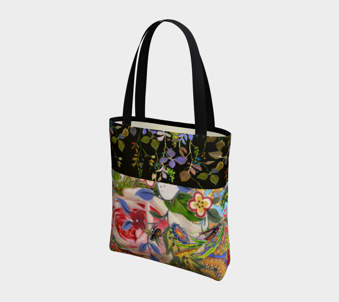 Bohemian Day Garden Canvas Tote preview #3