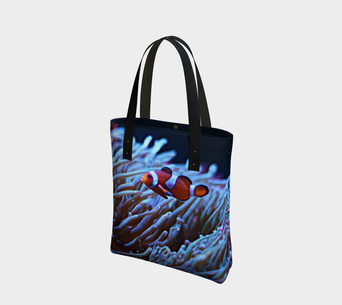 Aperçu de Clownfish Black light Reactive Tote #1
