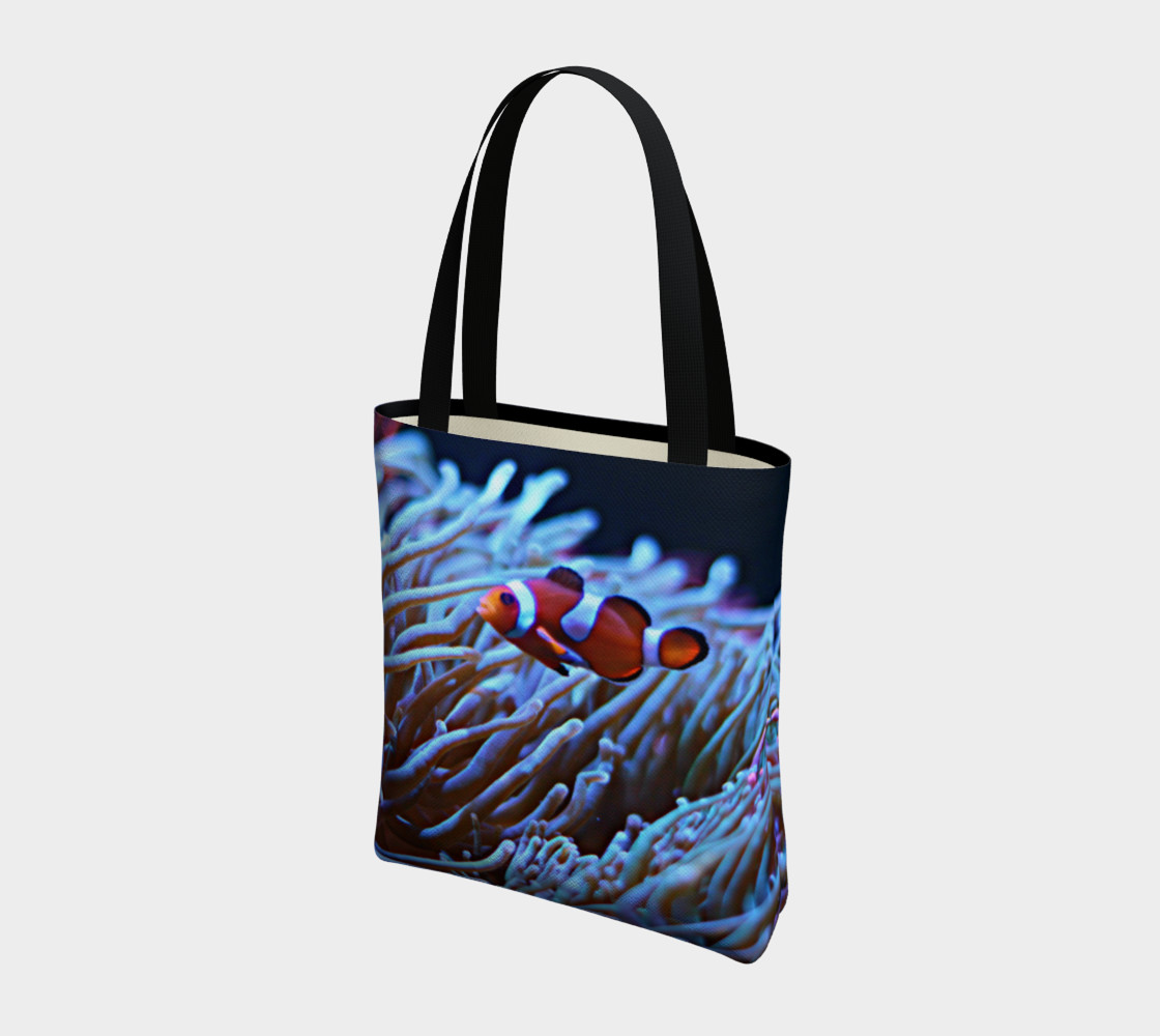 Clownfish Black light Reactive Tote preview #3