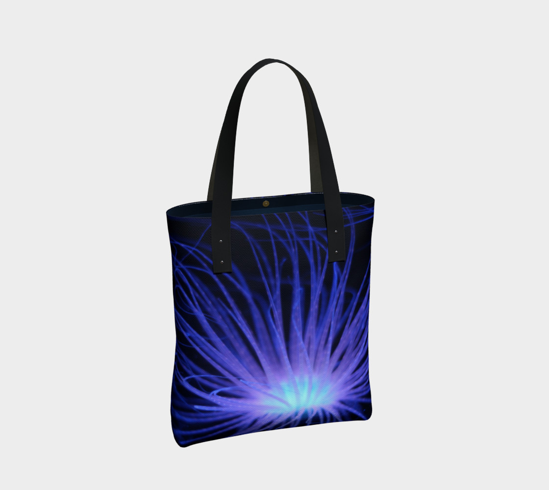 Black light Reactive Anemone Tote preview #2