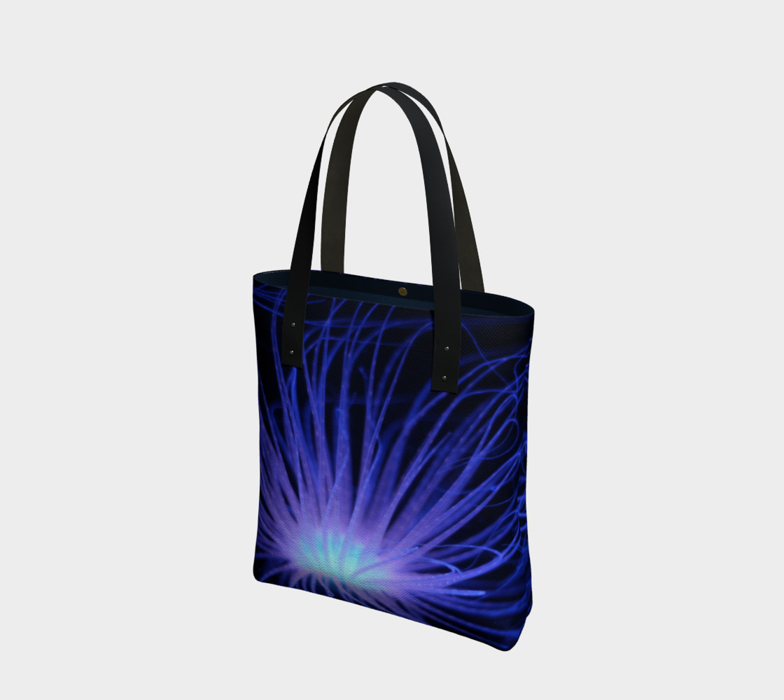 Black light Reactive Anemone Tote preview #1