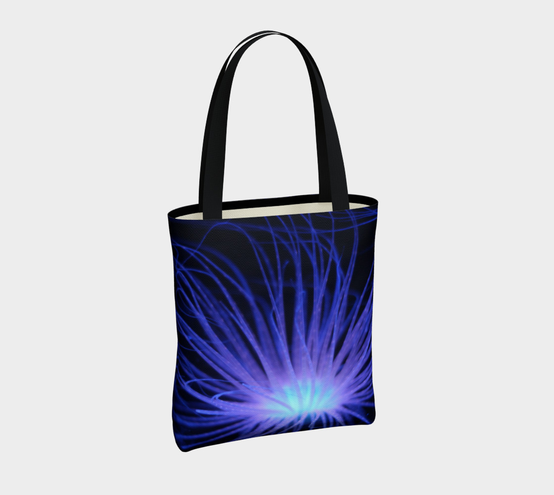 Black light Reactive Anemone Tote preview #4