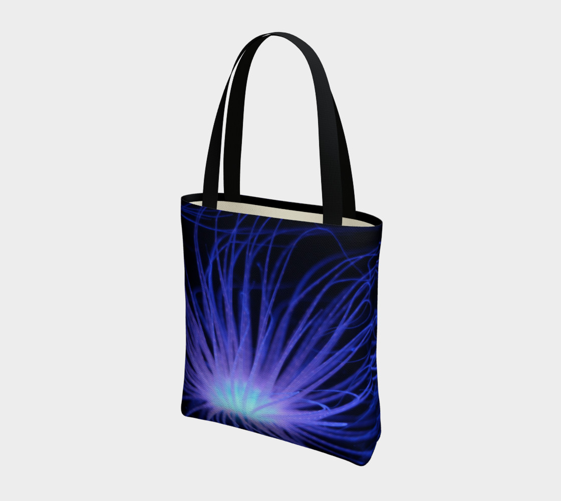 Black light Reactive Anemone Tote preview #3