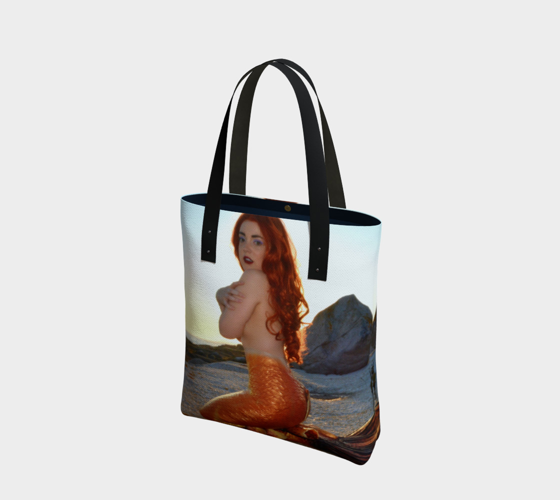 Pinup Mermaid Tote 3D preview