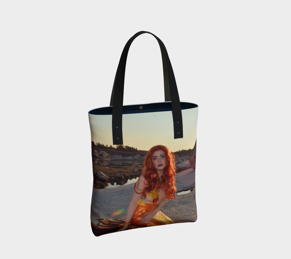 Sunset Pinup Mermaid Tote preview #2