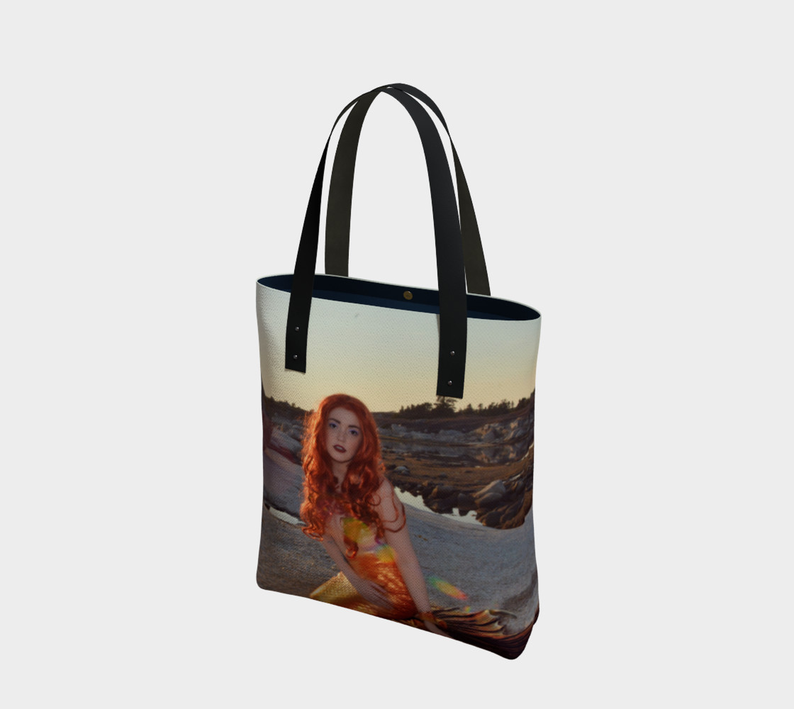 Sunset Pinup Mermaid Tote preview #1