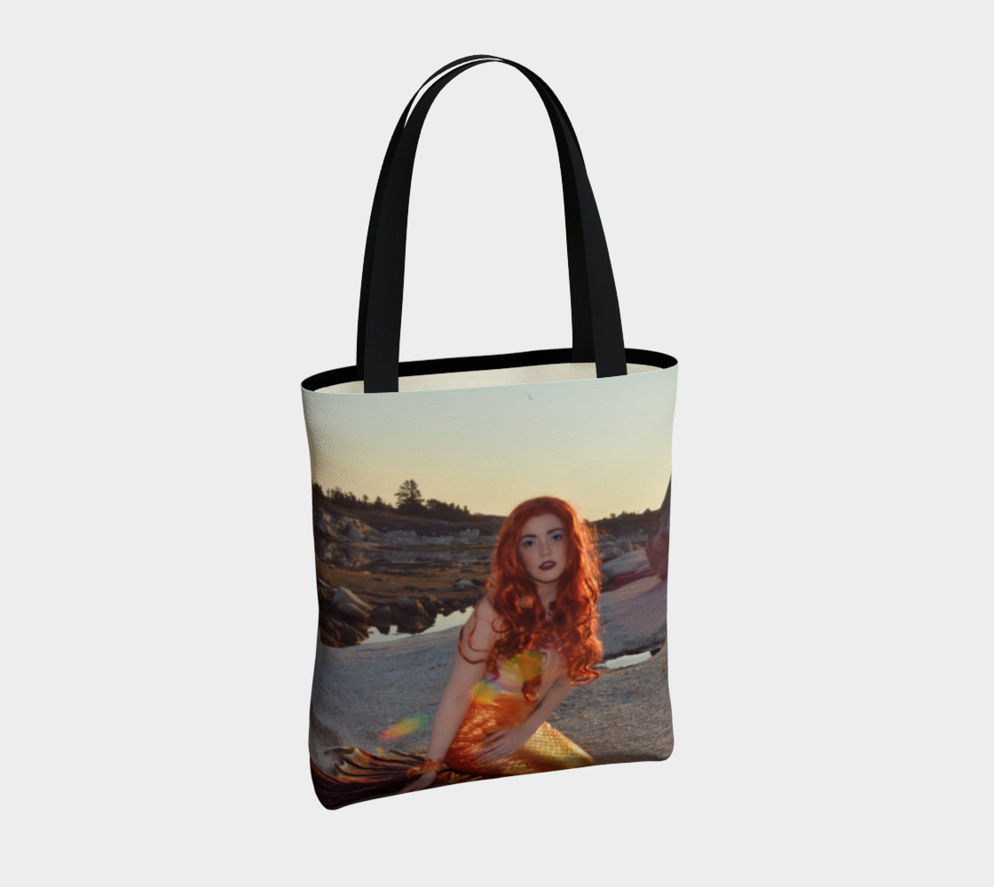 Sunset Pinup Mermaid Tote preview #4