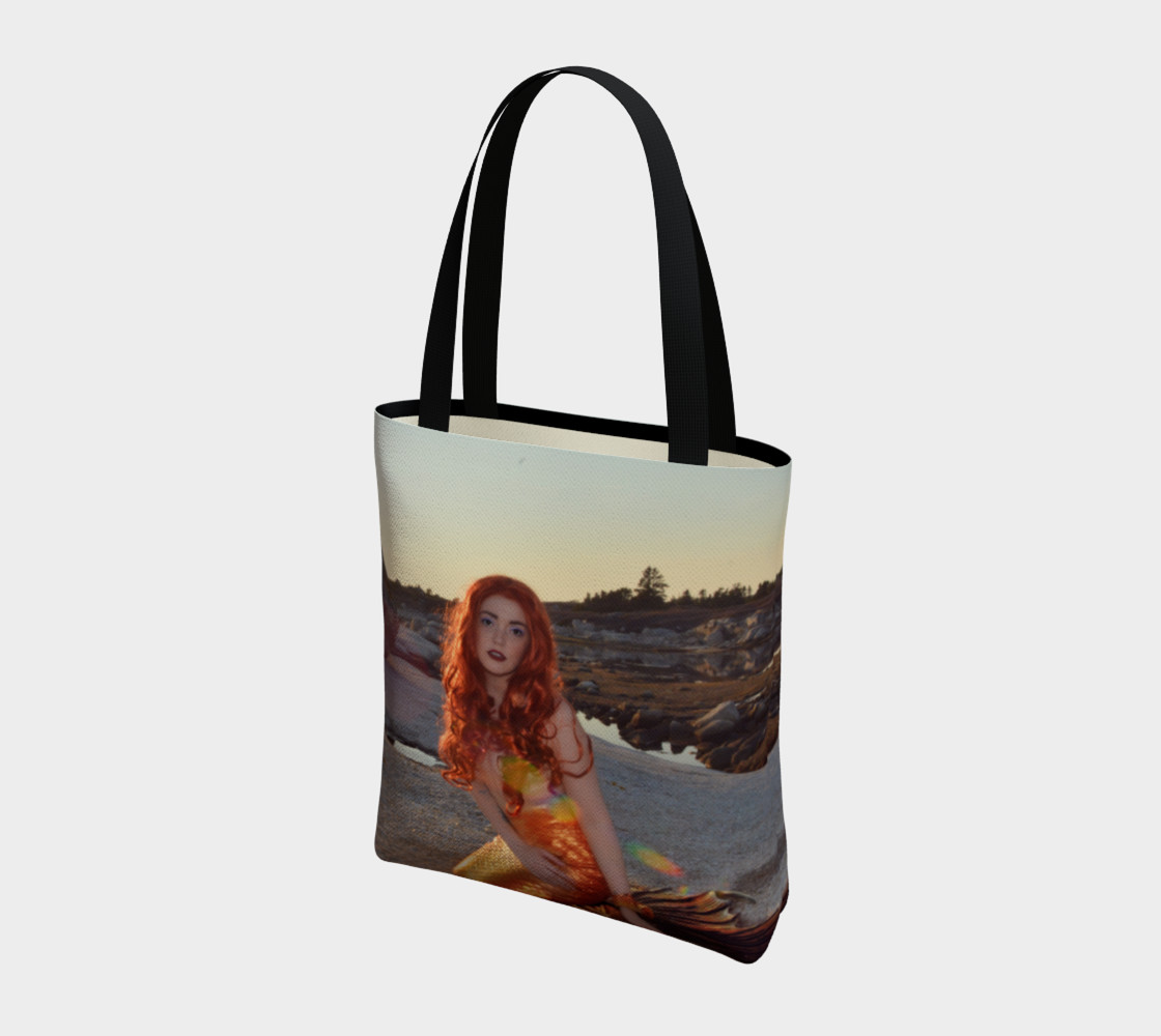 Sunset Pinup Mermaid Tote preview #3