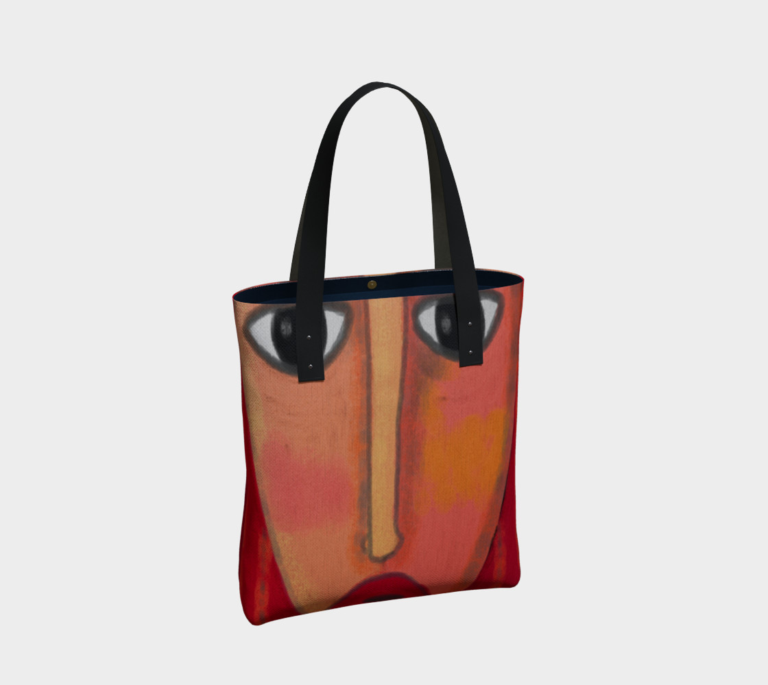 Big Red Lips Abstract Art Shoulder Bag preview #2